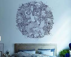 mermaid wall decals etsy