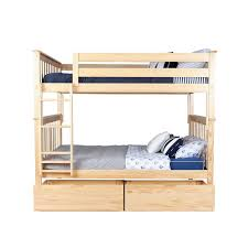 Bunk Bed Frames Solid Wood by Max U0026 Lily Solid Wood Bunk Bed With Under Bed Storage Drawer