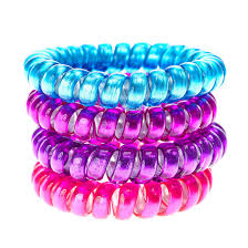 hair bobbles 4 pack bright jelly phone wire hair bobbles s