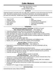 security supervisor resume objective technician resume jobsgallery us best service center technician resume example livecareer technician resume