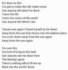 away from the sun by 3 doors song lyrics
