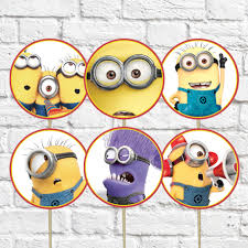 despicable me cake topper despicable me minions cupcake toppers