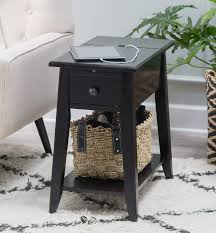 end table with usb port black end table with usb ports and power outlets outlets black
