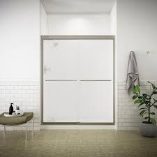Glass Shower Doors Nashville by Kohler Fluence 59 5 8 In X 70 5 16 In Semi Frameless Sliding