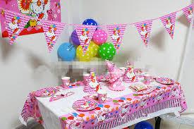 hello party supplies aliexpress buy 58pcs set pink luxury hello party
