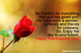 be thankful for everything that god thanksgiving message