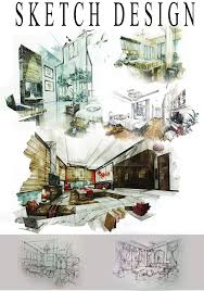 Interior Design Sketches by Sketch Design Love How Everything Is Integrated And Kind Of