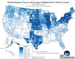 median property taxes as a percentage of median home value by