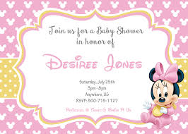 Unique Baby Shower Invitation Cards Minnie Mouse Baby Shower Invitations Themesflip Com