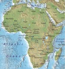 africa map physical map of africa with national borders