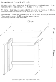 fabrication d un bureau en bois bureau bois brut esprit cabane idees creatives et ecologiques