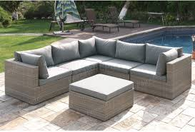 409 outdoor patio 6pc sectional sofa set by poundex w options