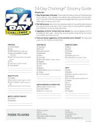 grocery guide grocery list healthy grocery list template for free