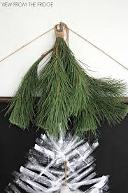 white and black christmas tree wall hanging view from the