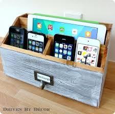 Electronic Charging Station Desk Organizer Desktop Charging Station Organizer The Handmade Wood Desk