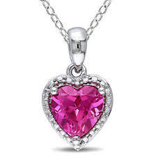 pink sapphire necklace images Pink sapphire necklace ebay jpg