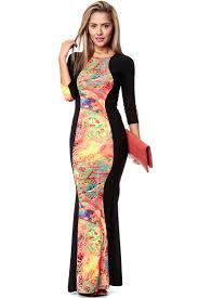 coral hour glass mermaid maxi dress cicihot dresses