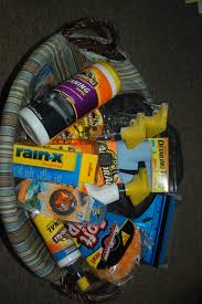 raffle basket ideas for adults car care gift basket bigdiyideas