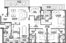 Dlf New Town Heights Floor Plan 1476470564panorama Suites Floor Plan Floor Plan 3bhk 3771 Sqft Jpeg