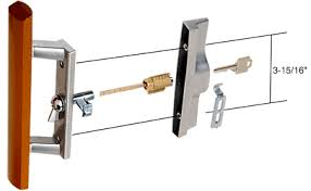 Patio Door Lock Parts Sliding Patio Door Lock With Key