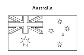 Austrslia Flag Australian Flag Coloring Page Free Flags Coloring Pages Of