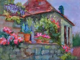 vibrant colourful oil paintings of flowers and france with dreama tolle perry