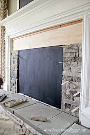 Fireplace Cover Up Diy Faux Fireplace Entertainment Center Part 3 Bless U0027er House