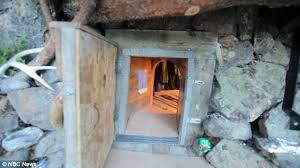underground tiny house hobbit man lives in tiny house on 5000 per year daily mail online