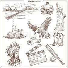 Colorado Travel Symbols images Usa america travel sketch landmarks and culture symbols vector jpg