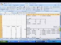 how to make anova table in excel two way anova using excel wmv youtube