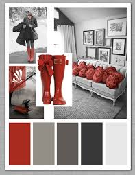 red color schemes for living rooms cool grays and a pop of candy apple red spice up your living room