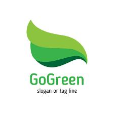 design logo go green natural eco green logo template design vector