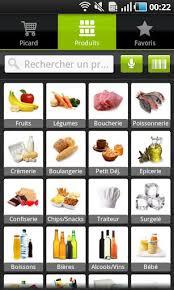 application cuisine android faire une liste de course et passer commande applications