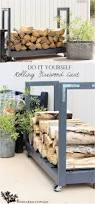 Cord Wood Storage Rack Plans by Best 25 Outdoor Firewood Rack Ideas On Pinterest Wood Rack