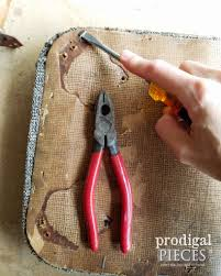 Upholstery Stretching Pliers Footstool Upholstery It Really Is That Easy Prodigal Pieces
