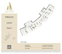 Floor Plan Of Burj Khalifa by Burj Vista Tower 1 Floorplans Downtown Dubai