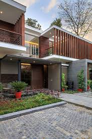home gallery design in india wooden slats glass walls and modern grandeur gallery house in india