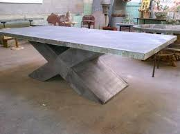 large outdoor dining table zinc furniture zinc pedestal tables transform your outdoor dining