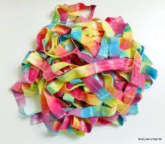 ribbon by the yard bright rainbow tie dye elastic ribbon by the yard unicorn