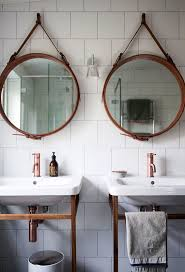 fancy round glass bathroom mirrors 56 for with round glass