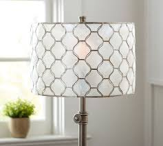Pottery Barn Chandelier Shades Fascinating Drum Chandelier Shades White Plastic And Gold Motif