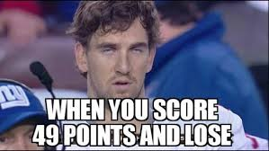 New York Giant Memes - 5 best memes of eli manning new york giants scoring 49 points