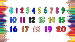 learn colors and numbers 0 20 with paint baby coloring pages