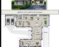 175 m2 narrow lot 4 bedroom house plans narrow home