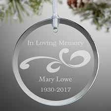personalized glass memorial ornament loving memory