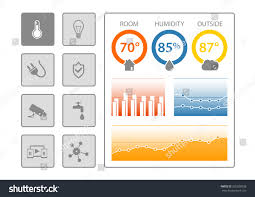 smart home automation dashboard template vector stock vector