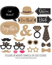 wedding photo props get the deal better together wedding photo booth props kit 20