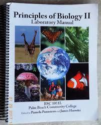 principles of biology ll laboratory manual bsc 1011l palm beach
