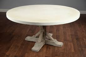 concrete top dining table best choice of round 60 concrete and elm dining table mecox gardens