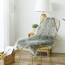 fur chair cover carvapet luxury soft faux sheepskin chair cover seat